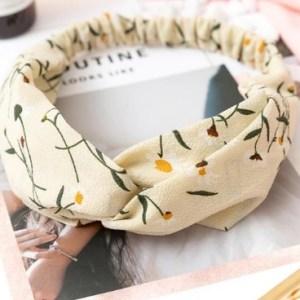 headband beige fleuri