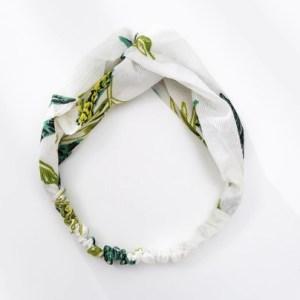 headband blanc vert