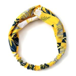headband bleu jaune
