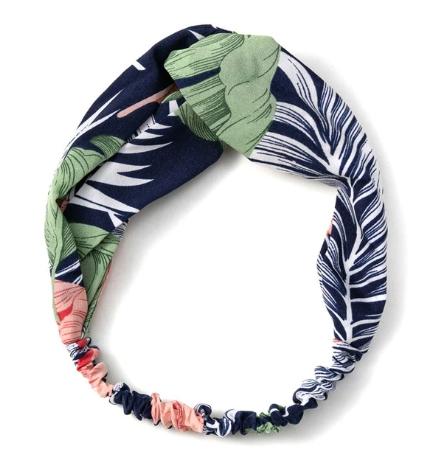 headband bleu marine vert