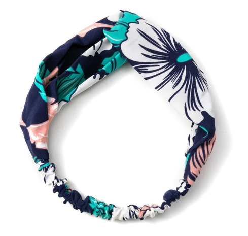 headband turquoise blanc