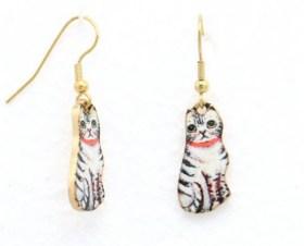 Boucles d'oreilles vintage chat