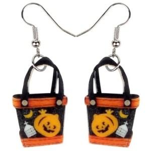 Boucles d'oreilles Halloween seau