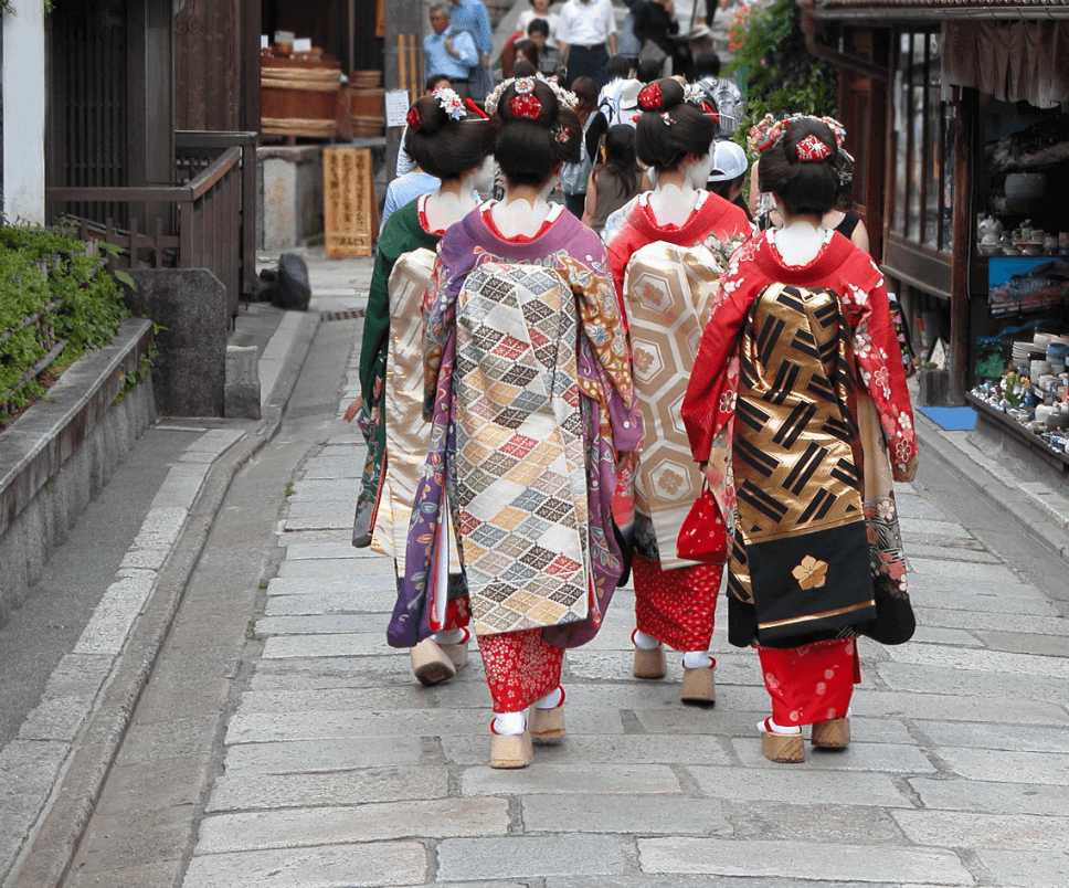 If you're lucky, you can drink and dine with a geisha or maiko while in Kyoto