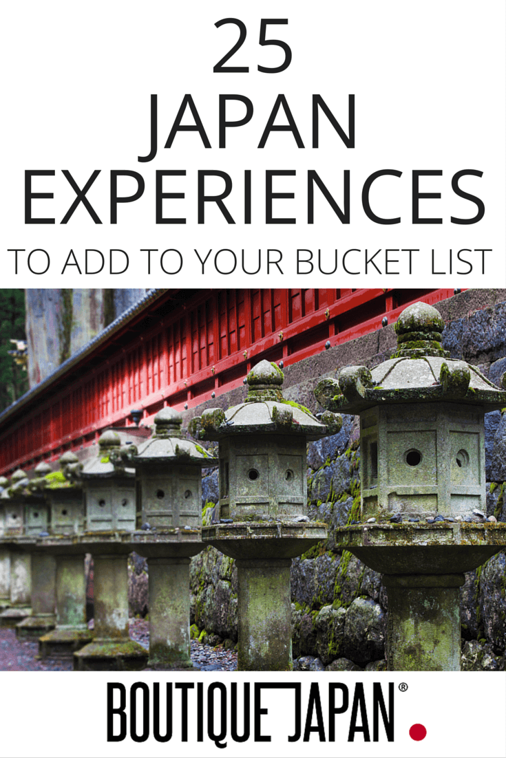 Ideas and inspiration for your trip to Japan. 25 remarkable places and experiences in Japan, from sushi to sumo, hot springs to hiking, and much more!
