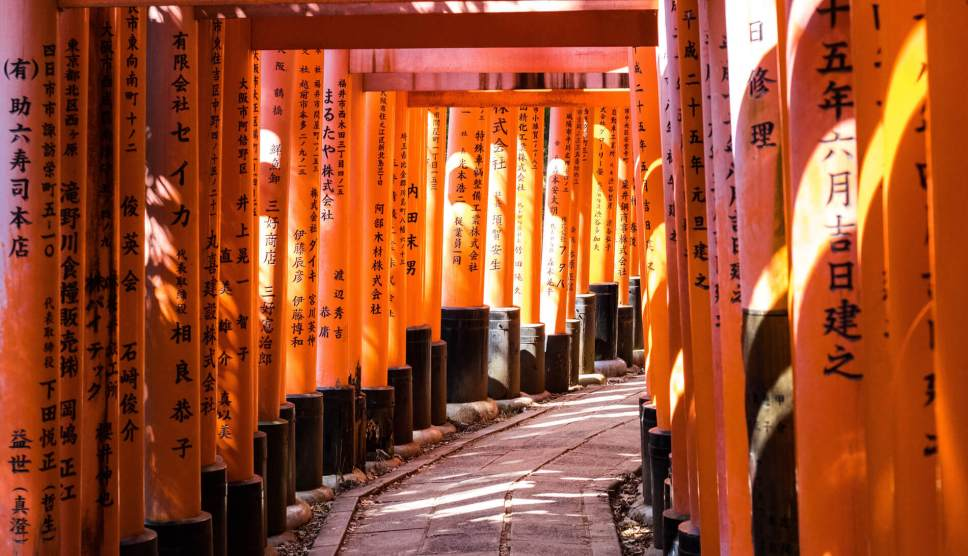 Summer at Fushimi Inari Taisha (shrine), Kyoto, Japan