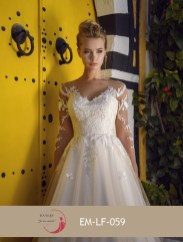 Robe de mariée ligne A (disponible en ivoire, blanc et champagne)