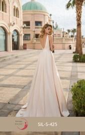 Robe de mariée ligne A (disponible en ivoire, blanc et rose)