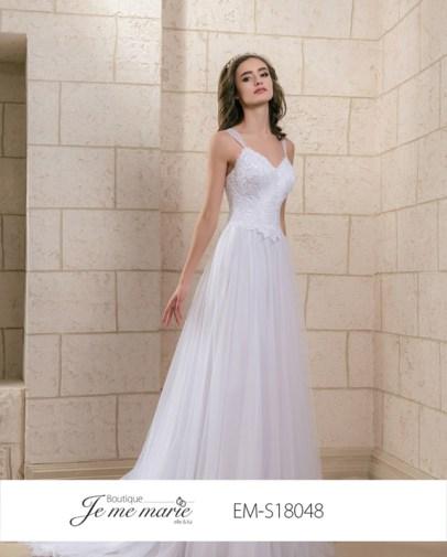Robe de mariée (disponible en ivoire et blanc)
