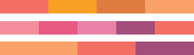 Boutique Retouching pantone-color-of-the-year-2019-palette-shimmering-sunset-harmonies Color Harmonies And Color Of The Year 2019 - Living Coral