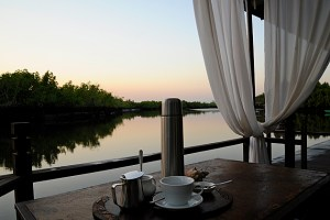 Morning coffee at Mandina Lodges