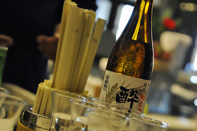 Sake tasting at the Blue Jade, Ritz Carlton, Dubai