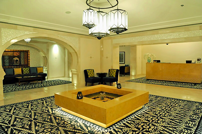 Ritz Carlton Dubai JBR, spa reception