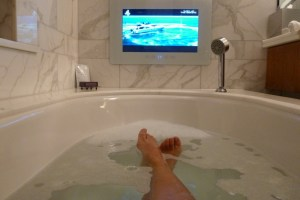 Bathtub with TV Screen