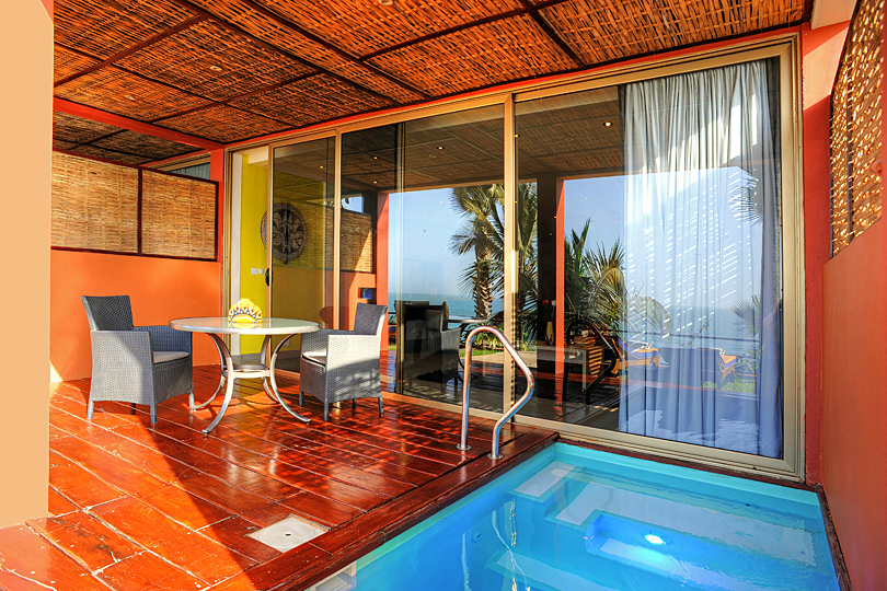 The stunning Macondo Suites at Ngala Lodge, The Gambia