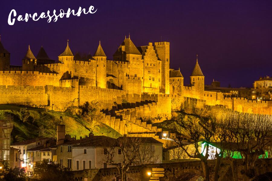 Carcassonne,, one of our top 10 places to visit in the south of France
