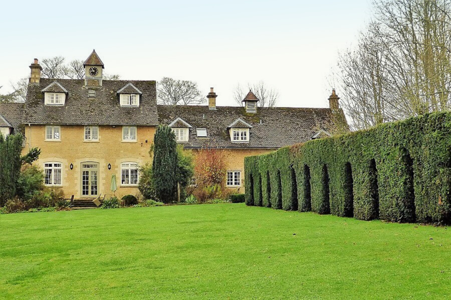 The grounds at Bruern Cottages, Cotswolds
