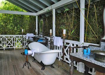 Open air bathroom, Belle Mont Farm, St Kitts