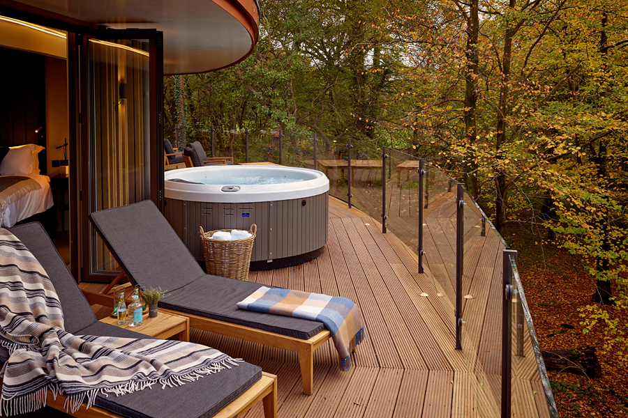 Chewton Glen in The New Forest, EngLand | One of the most luxurious treehouse holidays in the world