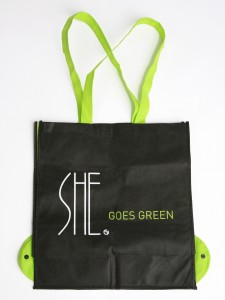 She Boutique\'s new reusable shopping bag