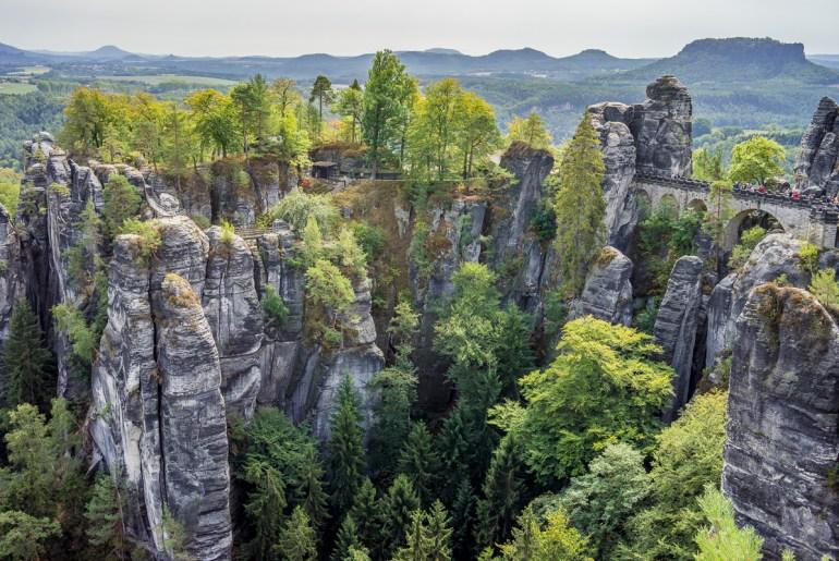 Bastei en Allemagne, au coeur de la Suisse Saxonne