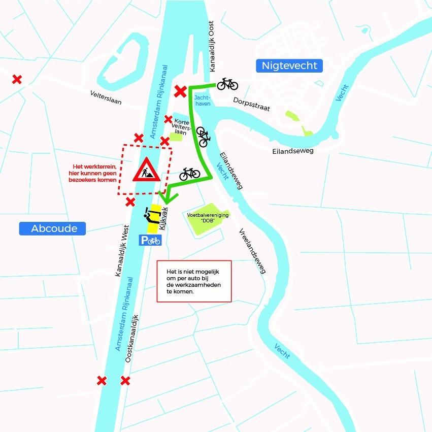 100 m fietsbrug over Amsterdam-Rijnkanaal