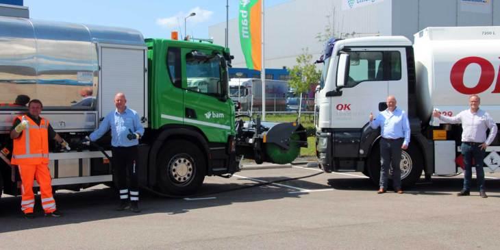 Fossielvrije HVO brandstof voor al het asfaltmaterieel BAM