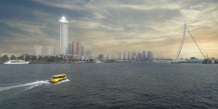 De Zalmhaven in Rotterdam is met 215 meter hoogste gebouw in Benelux