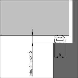 Zelfklevende profielen voor binnendeuren
