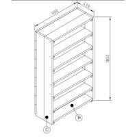 bouwtekening boekenkast