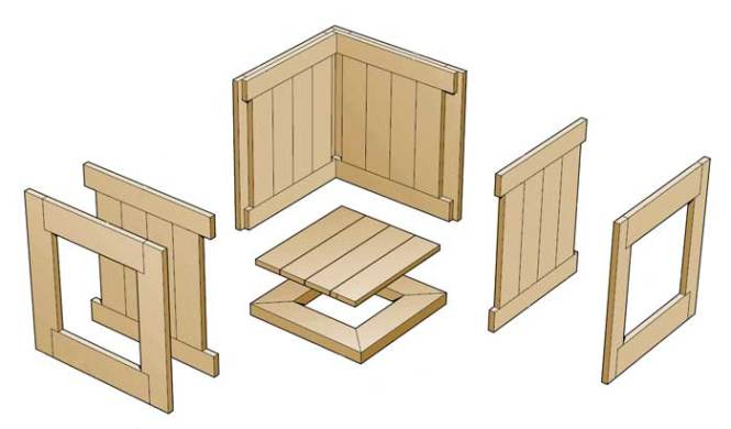 bouwtekening houten plantenbak