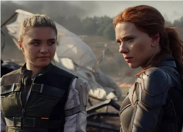 Scarlett Johansson and Florence Pugh Outrun an Assassin in New Black Widow Scene