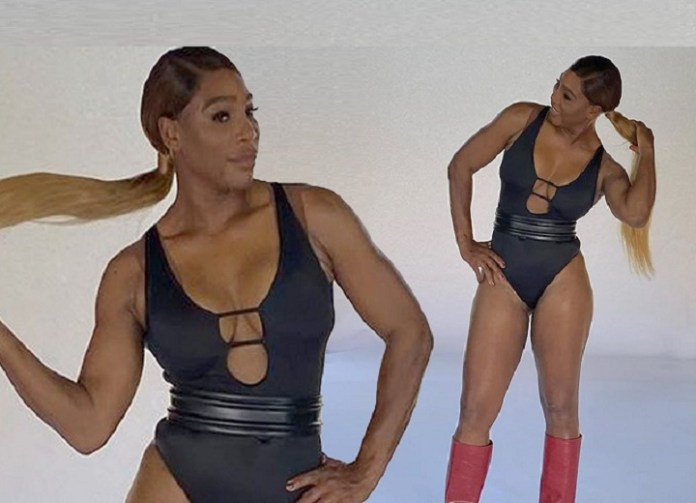 Serena Williams shows off her bootilicious assets