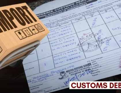 Customs Debit Note