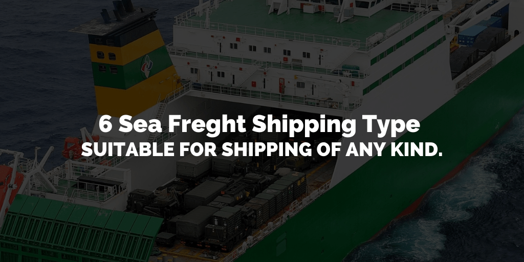most suitable sea shipping type