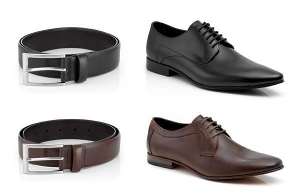 Черный ремень - черные туфли, коричневый ремень - коричневые туфли