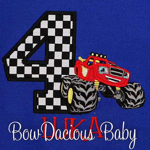 Blaze And The Monster Machines Birthday Shirt Custom Personalized Any Age