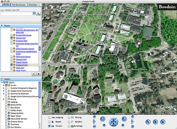 Google Earth Map  Bowdoin   About  Google Window
