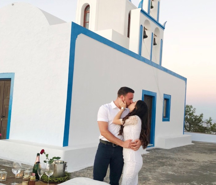 We got engaged in Santorini!- Day 2
