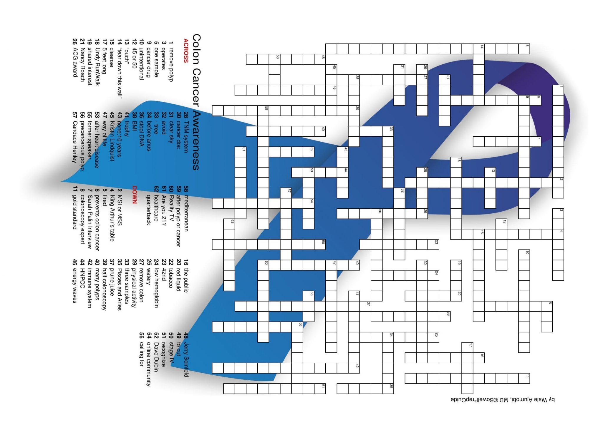 Colon Cancer Awareness Puzzle Bowelprepguide