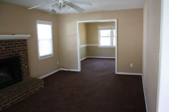 Original view from family room into dining room