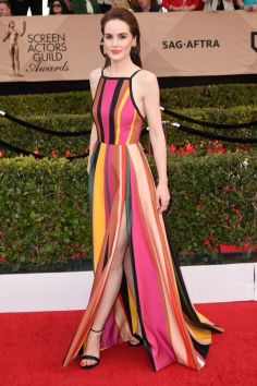 Mandatory Credit: Photo by Stewart Cook/WWD/REX/Shutterstock (8137136dp) Michelle Dockery The 23rd Annual Screen Actors Guild Awards, Arrivals, Los Angeles, USA - 29 Jan 2017