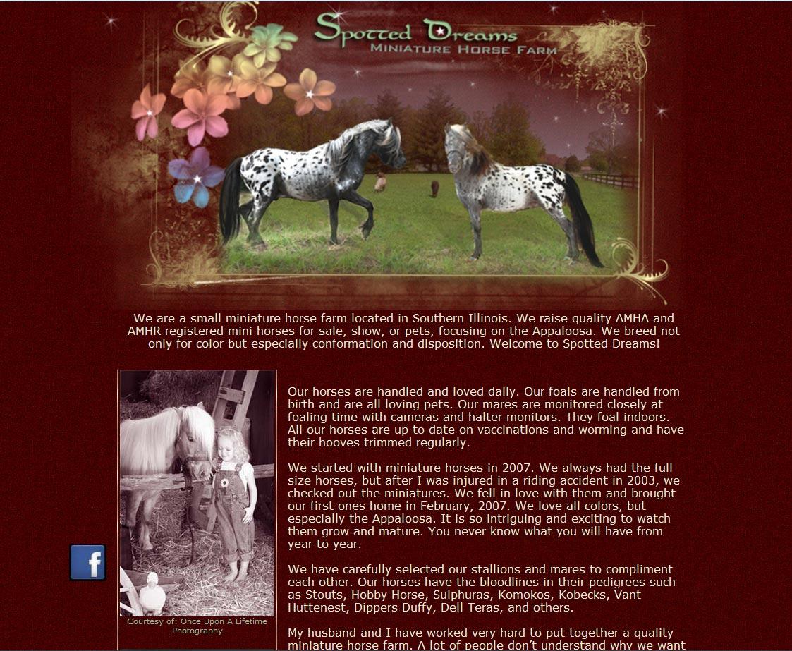 Spotted Dreams Miniature Horse Farm | Bowens Design