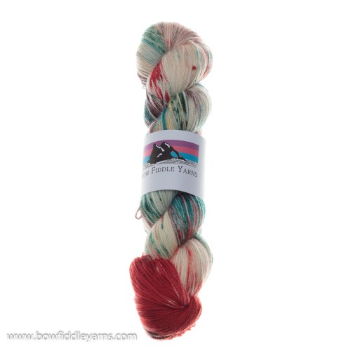 Bow Fiddle Yarns Merino and Nylon - Candy Cane - 4ply yarn