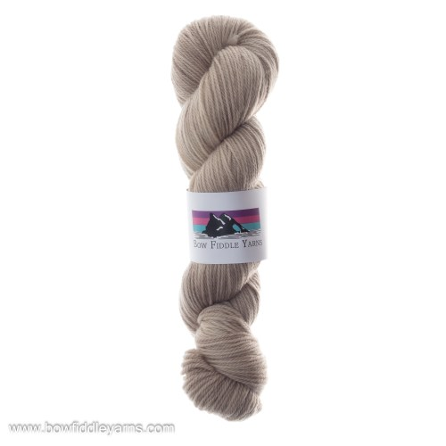 Biege double knit hand dyed yarn