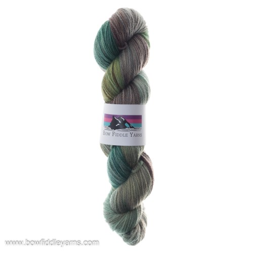 Green and brown variegated yarn