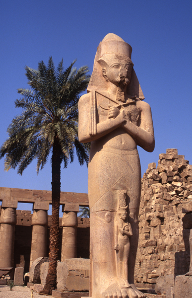 Ramses II statue-Temple of Karnak, Egypt