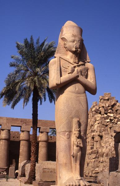 Ramses II statue-Temple of Karnak, Egypt