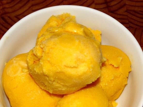 Close up of ice cream.
