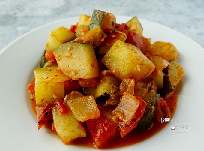 Zucchini Tomato Side